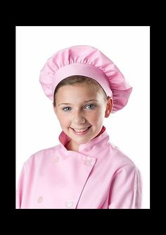 Girls Chef Coat and Hat PINK Christmas Birthday by ColorfulThreds on Etsy