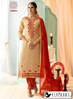 Chikoo and orange Color Salwar Suit http://www.fly2kart.com/chikoo-and-orange-color-salwar-suit.html?utm_content=buffer6948c&utm_medium=social&utm_source=pinterest.com&utm_campaign=buffer BIG OFFER SALE UP TO 50% OFF!!! +91-8000800110 CALL OR WHATSAPP
