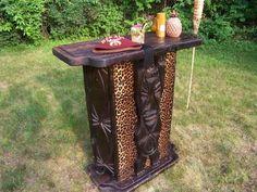 Tiki Bar!  love the leopard print accents