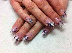 Purple Flowers by ChelseasNails - Nail Art Gallery nailartgallery.nailsmag.com by Nails Magazine www.nailsmag.com #nailart