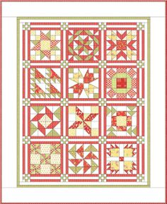 2013: Apple Pie in the Sky Quilt BOM from Sisters and Quilters