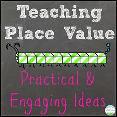 Teaching Place Value.  Place Value ideas, activities, and a freebie, too!