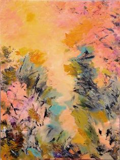 "Saatchi Art Artist subhashis ghosh; Painting, ""Greens and woods –  16"" #art"