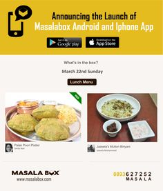 Sunday Lunch with Masalabox! 22-03-2015