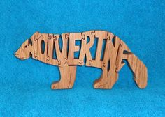 Wolverine Wooden Scroll Saw Puzzle by huebysscrollsawart on Etsy, $12.00 purchased.