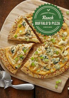 Who says buffalo is just for wings!? Put a spin on your pizza sauce and top your next pie with a little Buffalo Ranch. So easy, so tasty, so grab a slice -- they'll go quick!