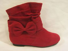 Girl Suede Booties (for Una's Christmas outfit) $17.99