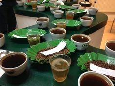 Coffee cupping training at London School of Coffee