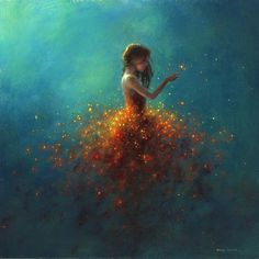 'A Delicate Touch' - art by Jimmy Lawlor Jimmy Lawlor, Artwork Images, Whimsical Art, Painting Inspiration, Amazing Art, Watercolor Art, Fantasy Art, Art Drawings, Original Paintings