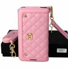 Chanel iPhone 5 Case 5S 4 4S Luxury Designer Wallet Pink
