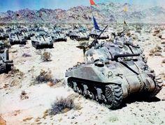 Tanques Sherman en el Norte de África.