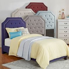 IQ KIDS Grace Button Tufted Arched Bridge TWIN-sized Headboard - 18723875 - Overstock - Great Deals on INSPIRE Q Kids' Beds - Mobile