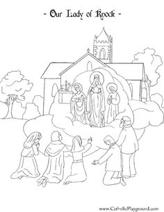 Our Lady Of Knock Coloring Page