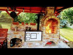 Kerti konyha,kiülő építése házilag!(Pergola,Sparhelt,Barbecue,Grill) - YouTube Outdoor Kitchen Grill, Outdoor Oven, Outdoor Kitchen Design, Outdoor Cooking, Modern Kitchen Renovation, Apartment Balcony Garden, Pergola, Tiny Farm, Container House Plans