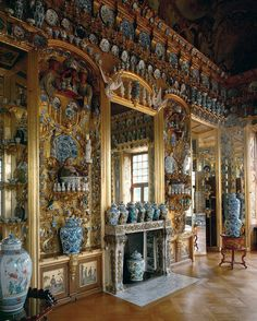 Queen Sophie Charlotte's private collection of porcelain. Although it was designed after her death, the queen had an incredible collection o...
