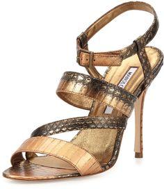 3a5f7ca3c1220a Women s Metallic Felix Strappy Snakeskin Sandal