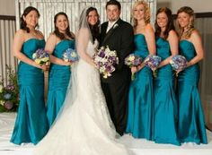 Beautiful blues & purples hydrangea, call lilies and stock bouquets ... simple & elegant ... an overall theme of 2014 weddings! by Jenny Thomasson AIFD of Stems Florist St. Louis. www.stems4weddings.com #calla #hydrangea #bouquets