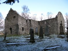 The ruins of St Bride's church in Old Blair Atholl