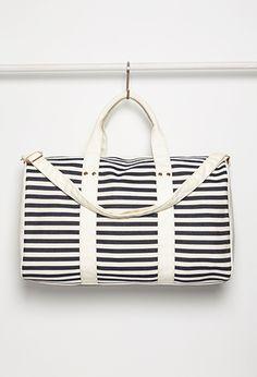 Striped Weekender Bag | Forever 21 - 2000132370