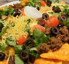 "Doritos Taco Salad: ""I LOVED this salad! This is as good, if not better, than any taco salad I've ever had at a restaurant.""  -Juenessa"