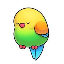 sleepy bird Kawaii Drawings, Cartoon Drawings, Cute Drawings, Animal Drawings, Cute Cartoon Animals, Baby Animals, Cute Animals, 365 Kawaii, Kawaii Doodles