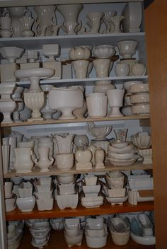 White McCoy pottery. I have a lot, but not this much. Yet.
