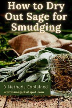How To Dry Sage, Wicca, Magick, Witchcraft, Incense Cones, Incense Sticks, Spiritual Guidance, Spiritual Awakening, Types Of Sage