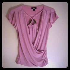 Layered Pink BCX Blouse Layered pink blouse by BCX with ring detail. Polyester-spandex blend. Perfect for work or a night out! Can be dressed up or dressed down. BCX Tops Blouses
