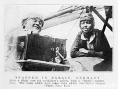 Bessie Coleman and Pathe cameraman in Berlin Bessie Coleman, New York Public Library, The Man, Chicago, African, History, Image, Berlin Germany, 1920s