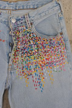 Vintage Jeans, Jean Vintage, Boho Vintage, Vintage Fashion, Upcycled Vintage, 1950s Fashion, Victorian Fashion, Diy Jeans, Jeans Denim