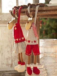 Moldes para hacer renos grandes con tela y fieltro04