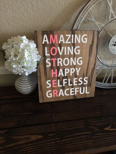 Reclaimed Wood Mother Sign by WTGDesigns on Etsy