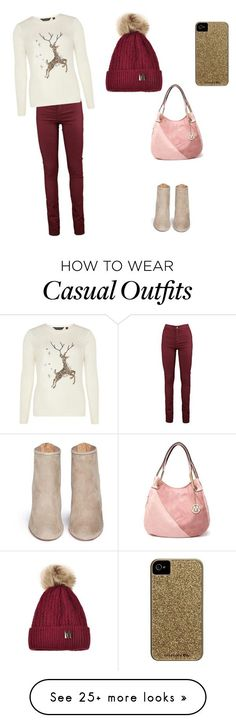 """Holiday casual"" by staceycusick on Polyvore featuring Aquazzura, Dorothy Perkins and Case-Mate"