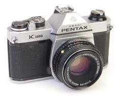 Pentax K-1000 SLR. Bought in 1979