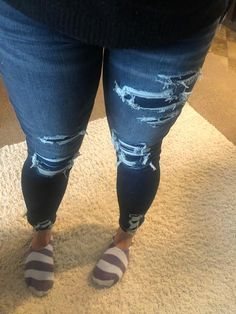 AE Ne(X)t Level High-Waisted Jegging Crop Curvy Clothes, Curvy Outfits, Fashion Outfits, Clothes For Women, Ripped Jeans Outfit, Cropped Jeans, Low Rise Skinny Jeans, Blue Skinny Jeans, Cute Comfy Outfits