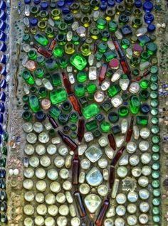 Fences and wall design ideas to recycle glass bottles
