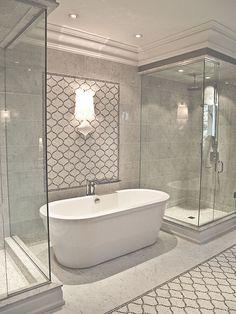 Custom Mosaic Bathroom   Tulip pattern   Terra Verre   Flickr