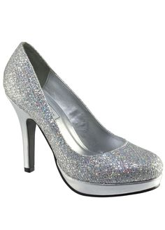 Sparkly silver shoes!   Touch Ups Prom Shoes Style Candice