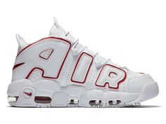 official photos 3956b 982a3 Officiel Nike Air More Uptempo 921948-102 Chaussure De Basketball Pas Cher  Homme Blanc Rouge