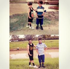 Hussain and Shehryaar Then vs Now Hussain Asif, Then Vs Now, Boys Dpz, Baseball Cards, Couple Photos, Funny, Sports, Movie Posters, Couple Shots