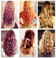 curly long hair <3