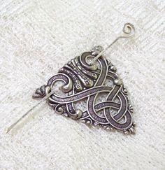 Silver Celtic Shawl Pin