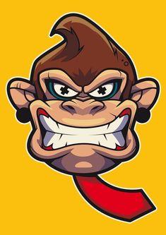 — Angry Donkey Kong Created by Jordy te Braak Graffiti Art, Wie Zeichnet Man Graffiti, Graffiti Drawing, Art Drawings, Cartoon Kunst, Comic Kunst, Cartoon Art, Comic Art, Arte Dope