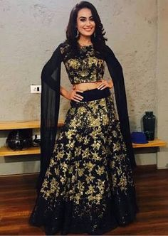 Surbhi Jyoti Hot Sexy Unseen Photo Gallery - All Indian Models Indian Bridal Outfits, Indian Fashion Dresses, Girls Fashion Clothes, Fashion Outfits, Fashion Now, Girl Fashion, Red Wedding Lehenga, Lehenga Crop Top, Cute Preppy Outfits