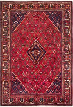 Persian Joshagan x Hand-knotted Wool Red Rug Red Rugs, Persian, Bohemian Rug, Wool, Home Decor, Red Carpets, Decoration Home, Room Decor, Persian People