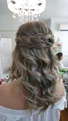 Half up with braid by Tracie @ Powder Room