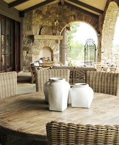 Architectural Details, Cottage Outdoor Room   Yvonne McFadden LLC   Dering Hall Design Connect In partnership with Elle Decor, House Beautiful and Veranda.