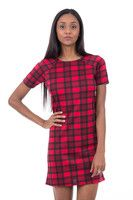 New Listing Started Red Tartan Dress £9.99