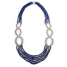 1stdibs - Exceptional Sapphire & Diamond Necklace explore items from 1,700  global dealers at 1stdibs.com