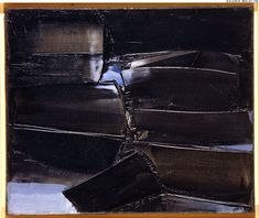 SOULAGES, Pierre. Composition. (Ref#: 880 ). 1961. Oil on canvas. Size in Cm: 54 x 65.